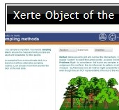 Screenshot of part of the showcase facility on the Xerte community website