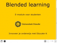 Afbeelding module blended learning UU